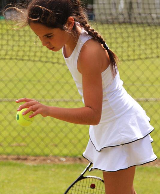 girls white tennis dress Johanna zoe alexander