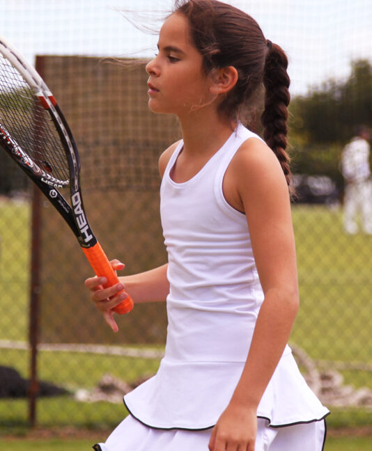 johanna girls white tennis dress