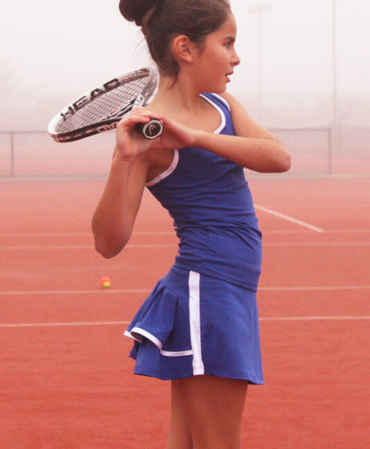 blue tennis outfit zoe alexander junior tennis apparel