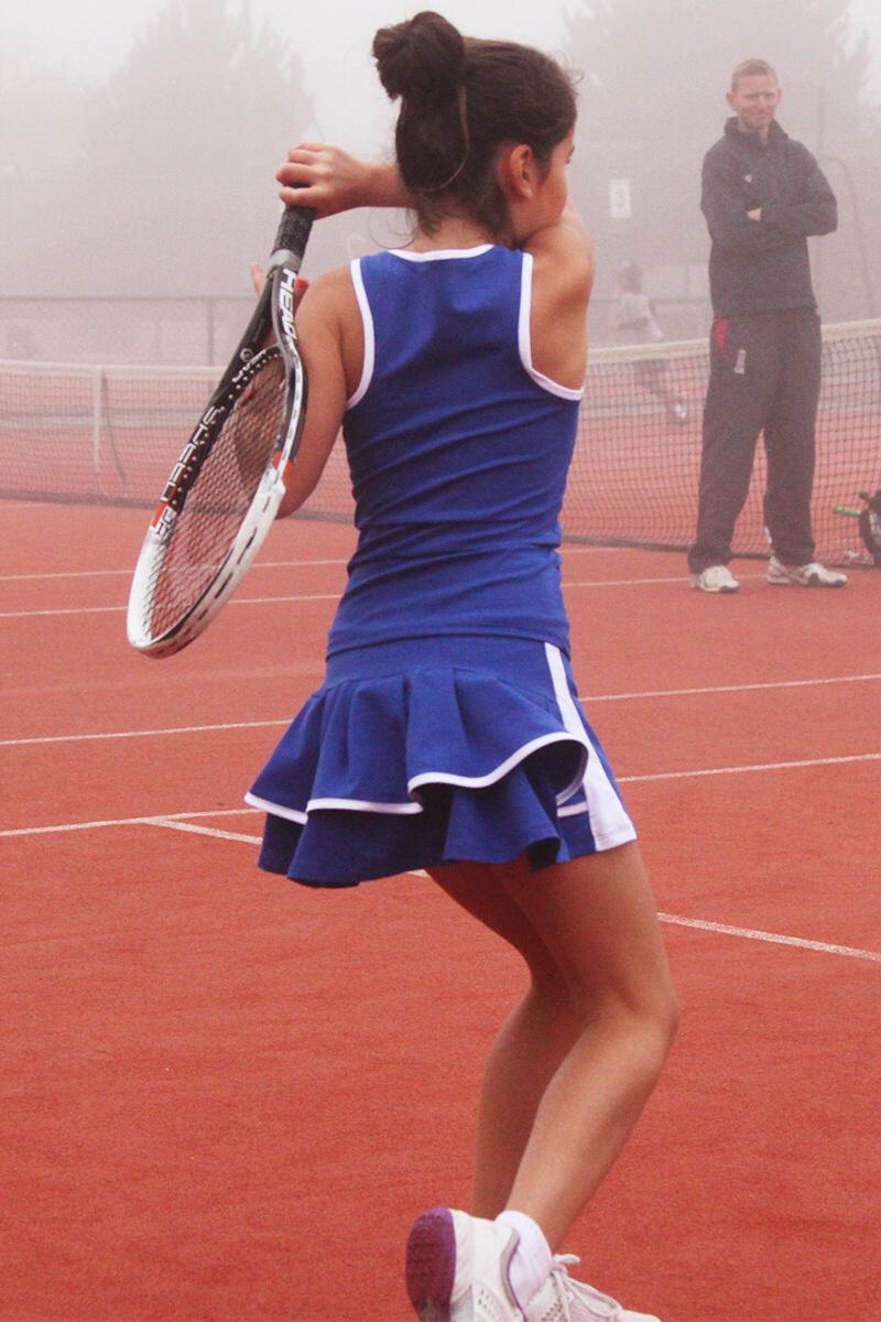 blue tennis outfits zoe alexander