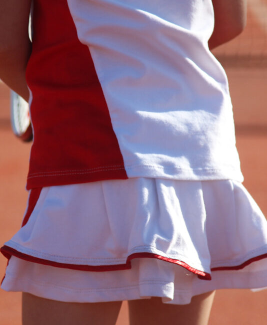 wimbledon red tennis skirt zoe alexander uk