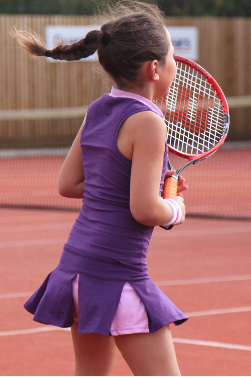 tennis top and skirt purple outfit zoe alexander uk tennis clothes girls