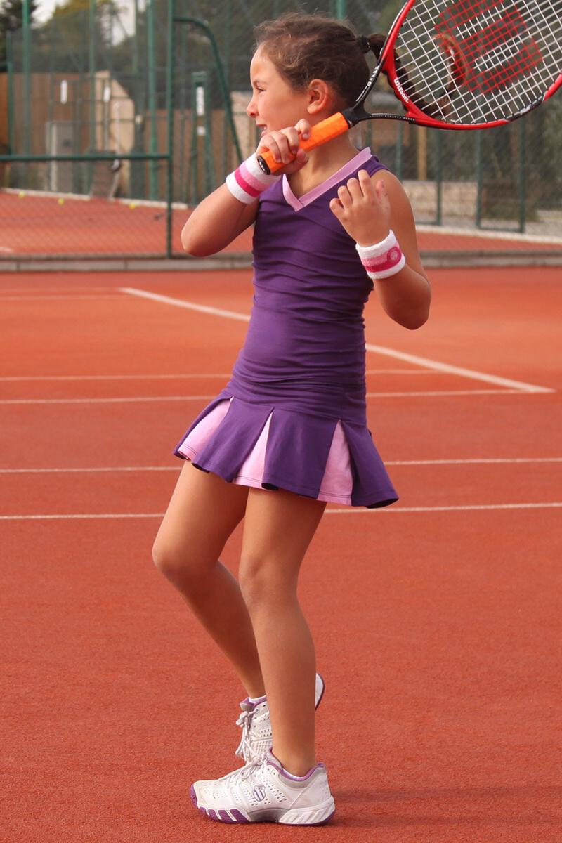 girls tennis skirt and top outfit purple zoe alexander uk