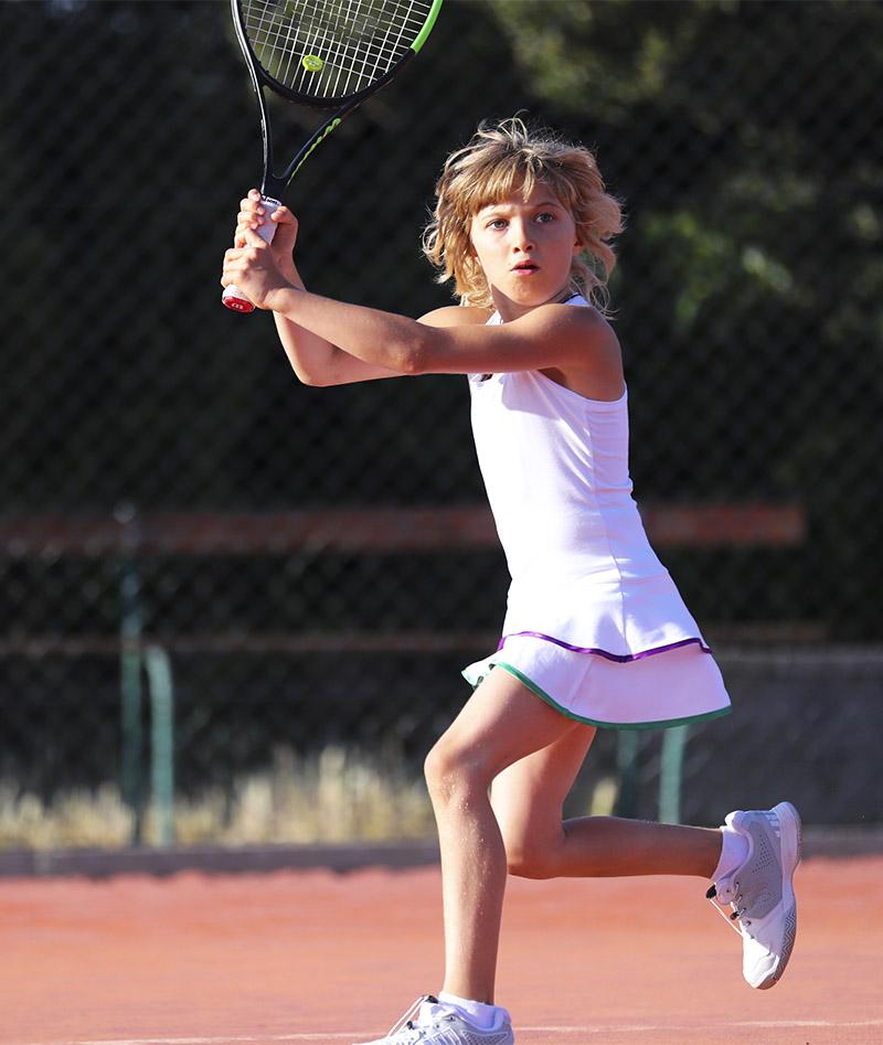 girls white wimbledon tennis dress zoe alexander uk