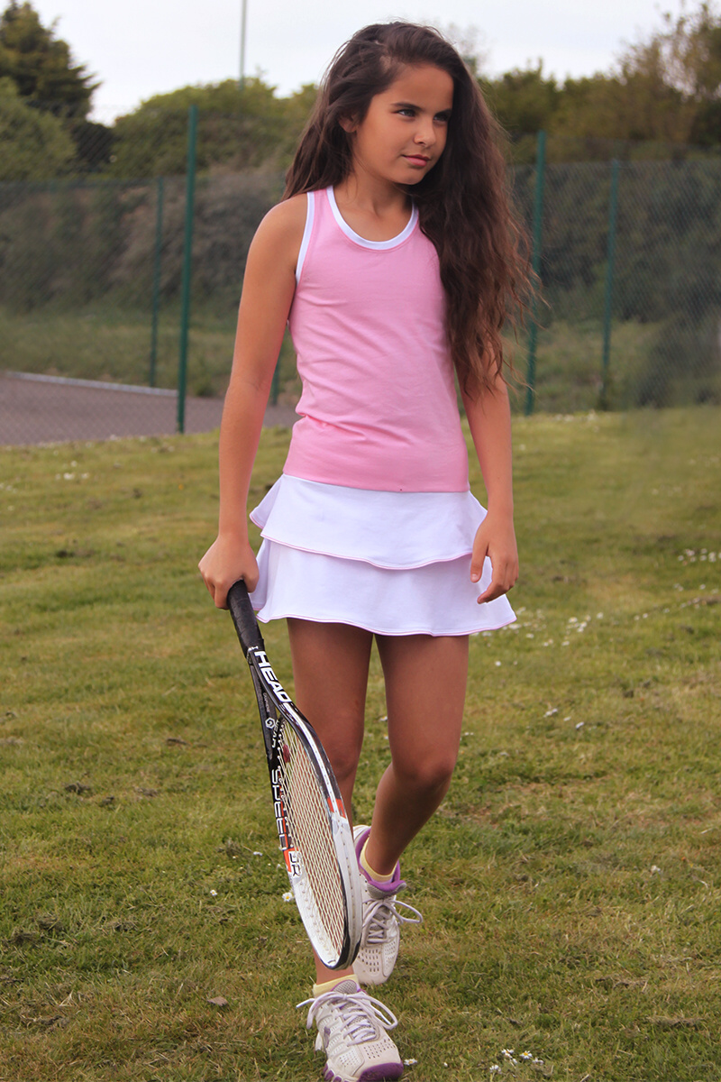 pink racer back tennis dress girls zoe alexander uk