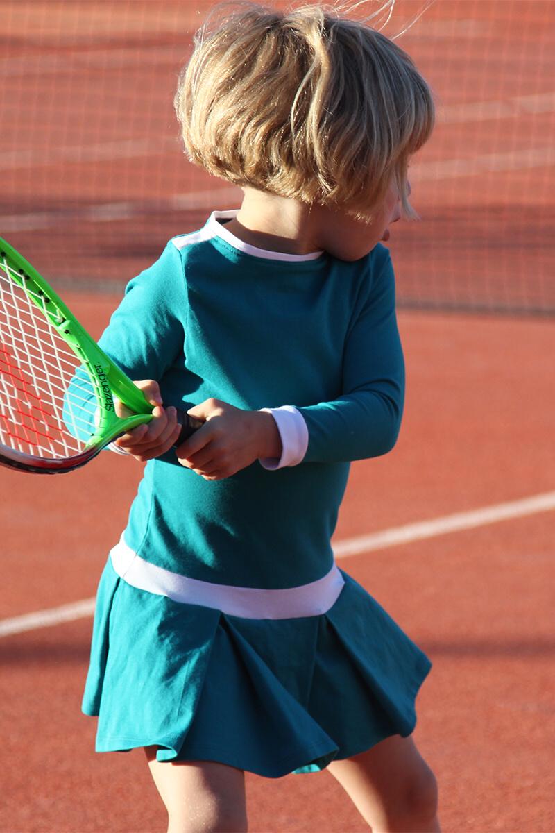 teal tennis dress girls zoe alexander