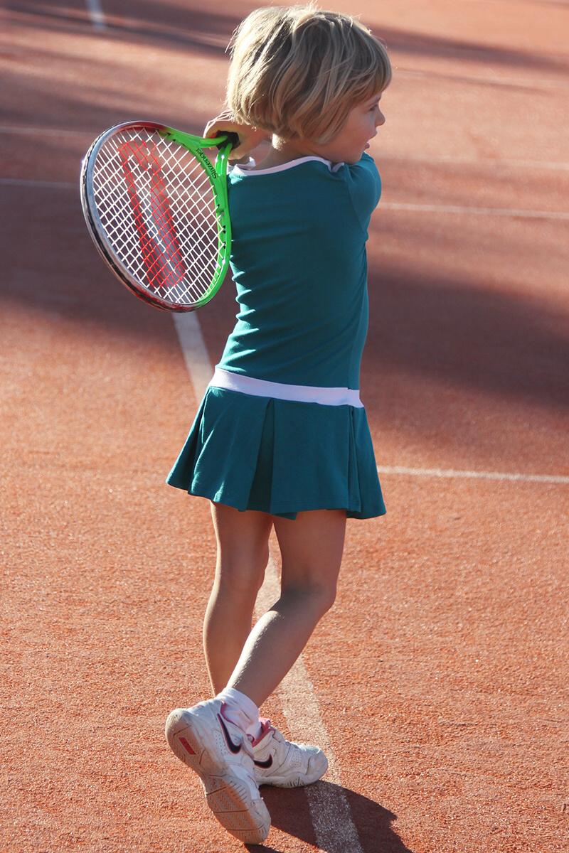 teal kayla girls tennis dress by zoe alexander