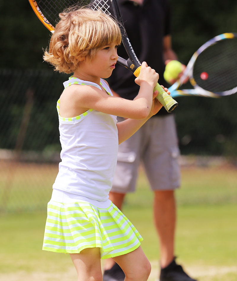 stripe tennis clothes for children zoe alexander