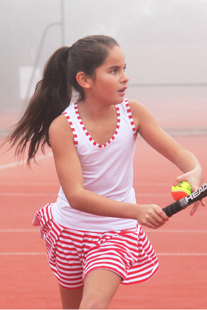 red and white stripe tennis outfits and dresses from zoe alexander