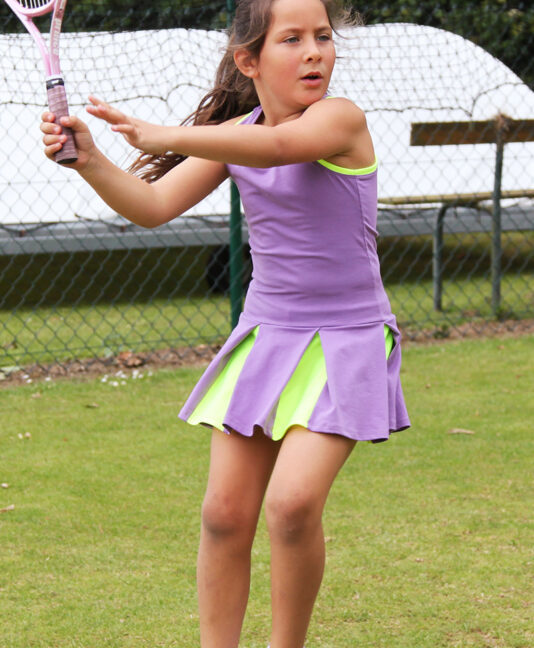 girls tennis dress victoria white purple blue zoe alexander uk
