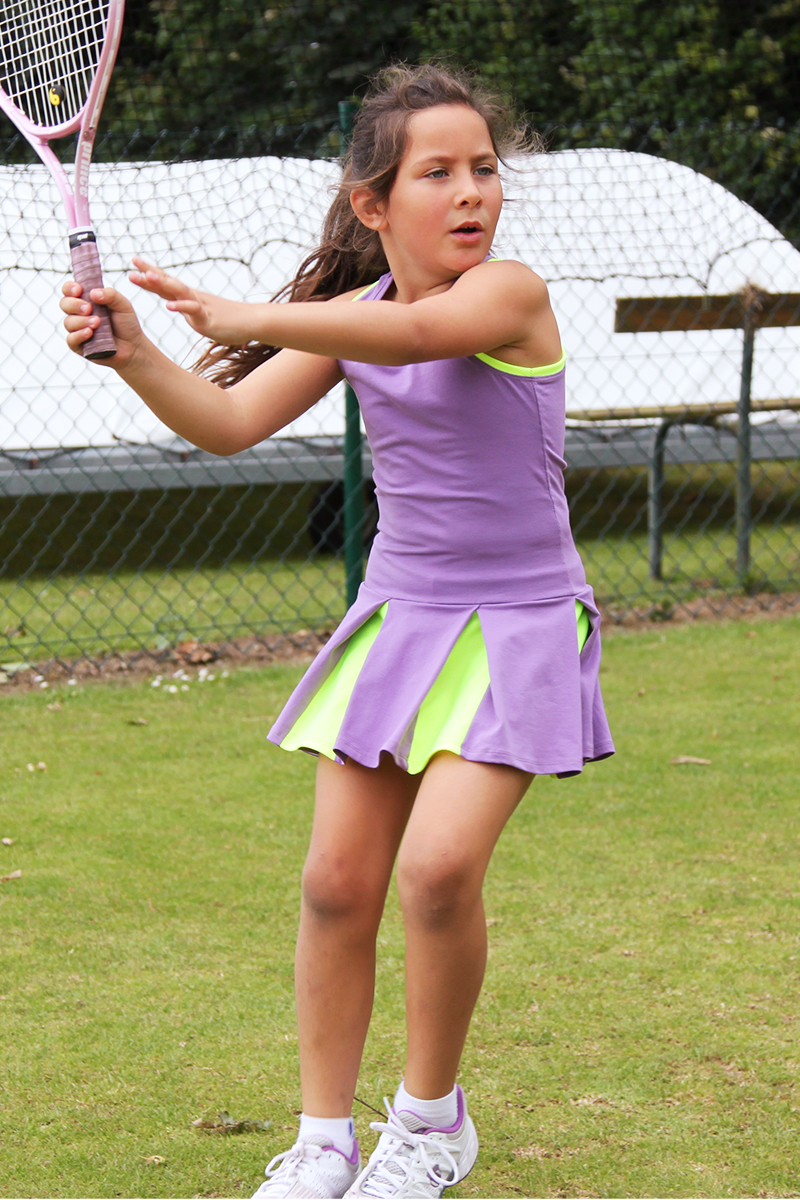girls tennis dress victoria white purple blue zoe alexander uk