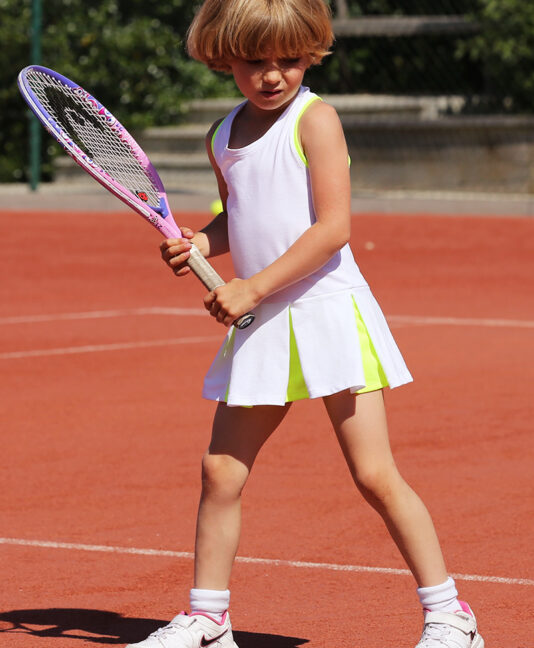 white tennis dresses by zoe alexander