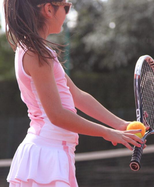 wimbledon pink tennis outfit zoe alexander
