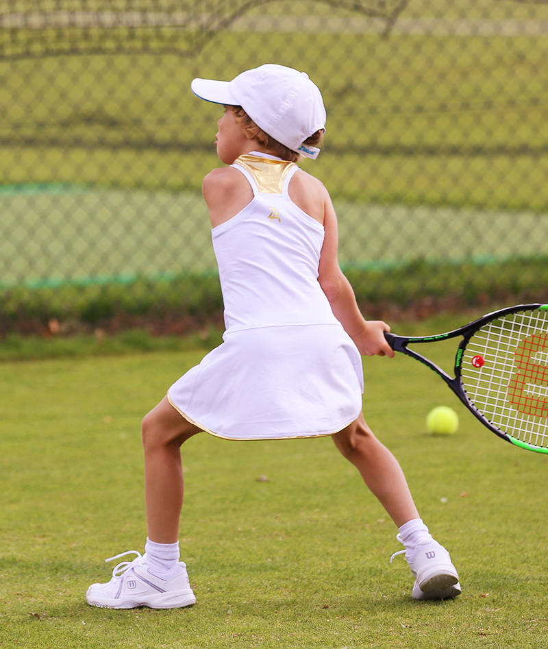 white tennis dress zoe alexander wimbledon