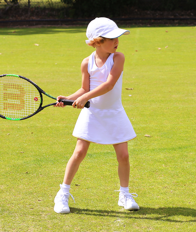 wimbledon white tennis dress  girls tennis clothing