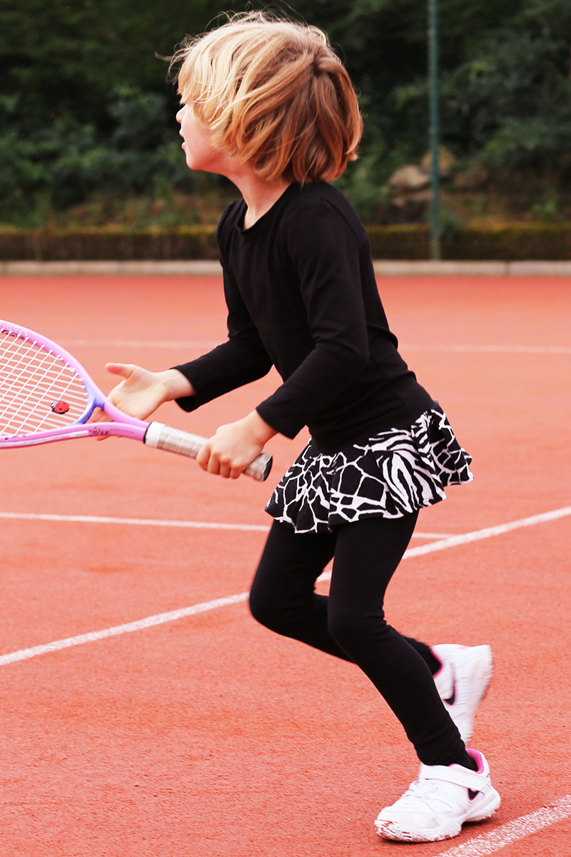 animal print tennis dress with black leggings zoe alexander