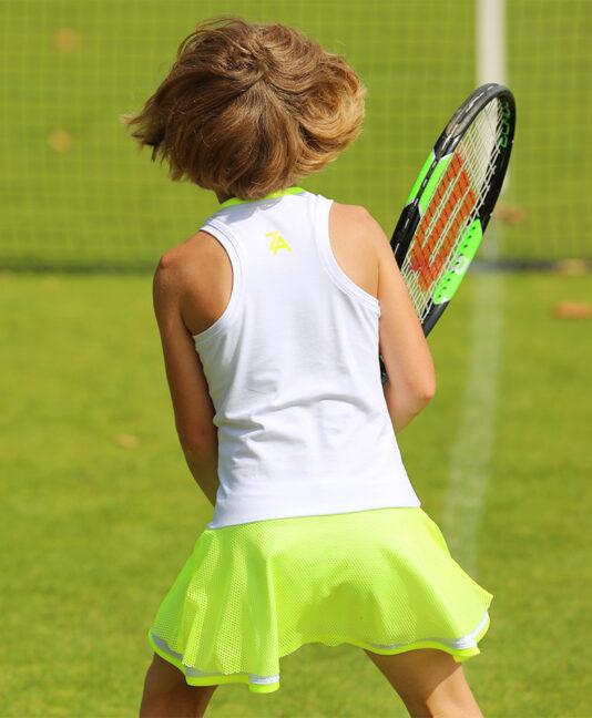 white tennis dresses mesh skirt zoe alexander