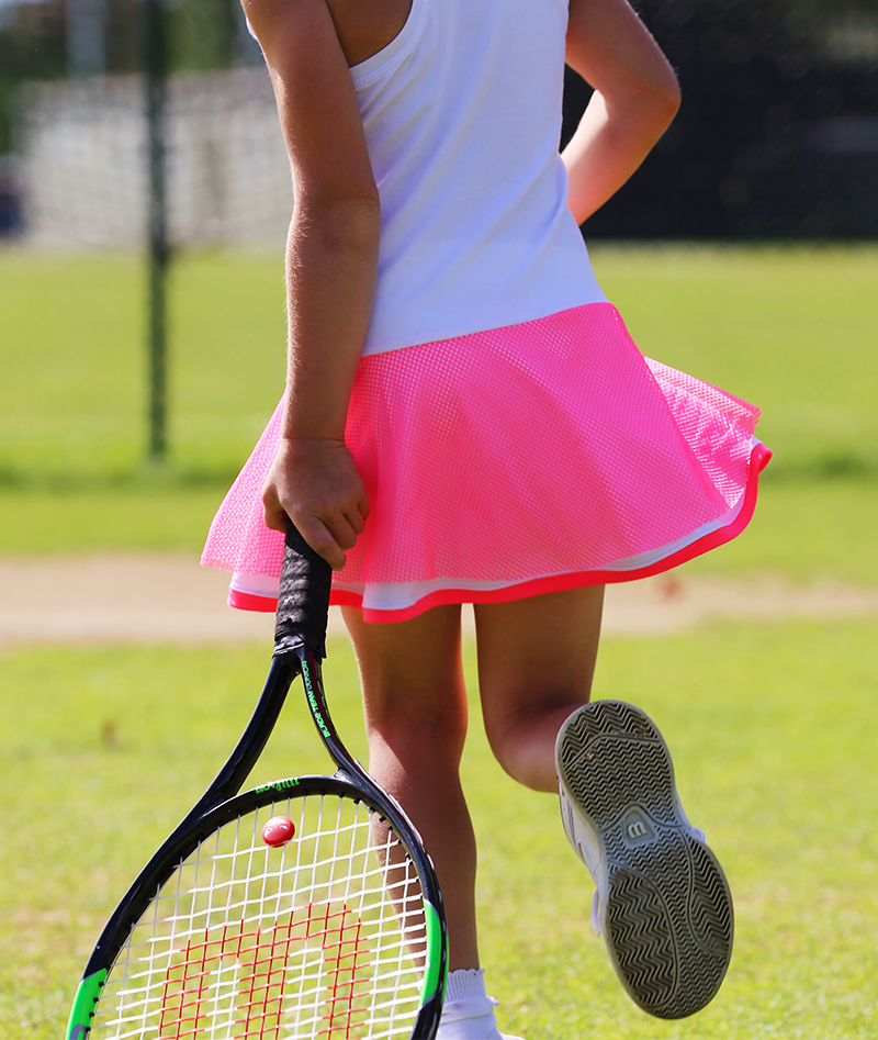 white tennis dresses with neon skirt junior tennis apparel zoe alexander