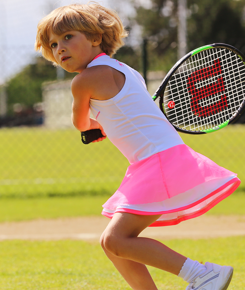 white tennis clothes girls tennis dresses neon mesh zoe alexander