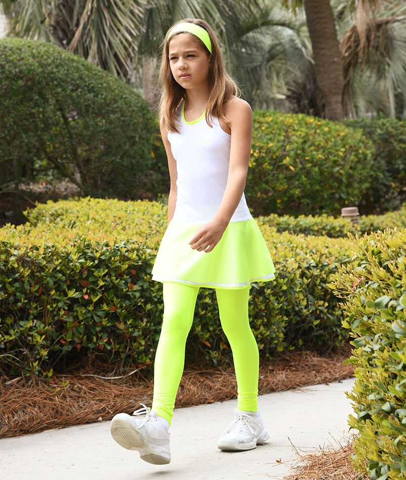 girls tennis legging with ball pocket zoe alexander