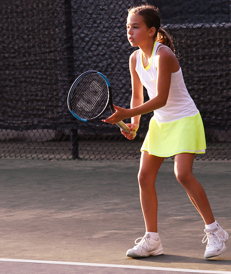 white and neon tennis dress zoe alexander kristyna