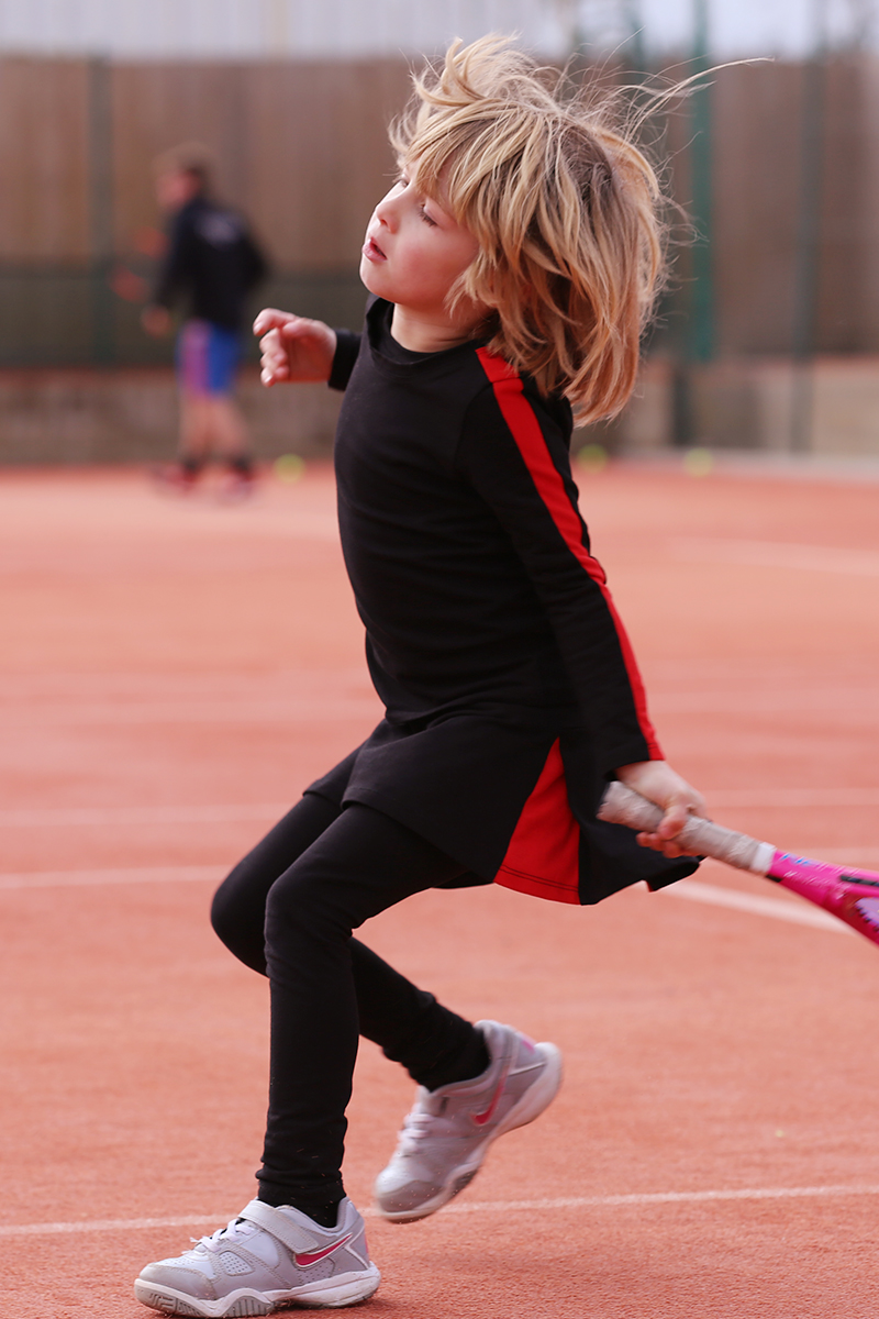 tennis clothes for girls by zoe alexander uk, black tennis outfit, junior tennis wear,