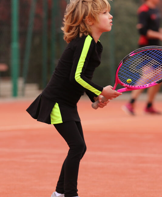 black neon tennis outfit zoe alexander girls tennis clothes