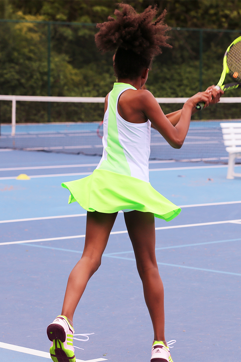 white racerback tennis dresses zoe alexander