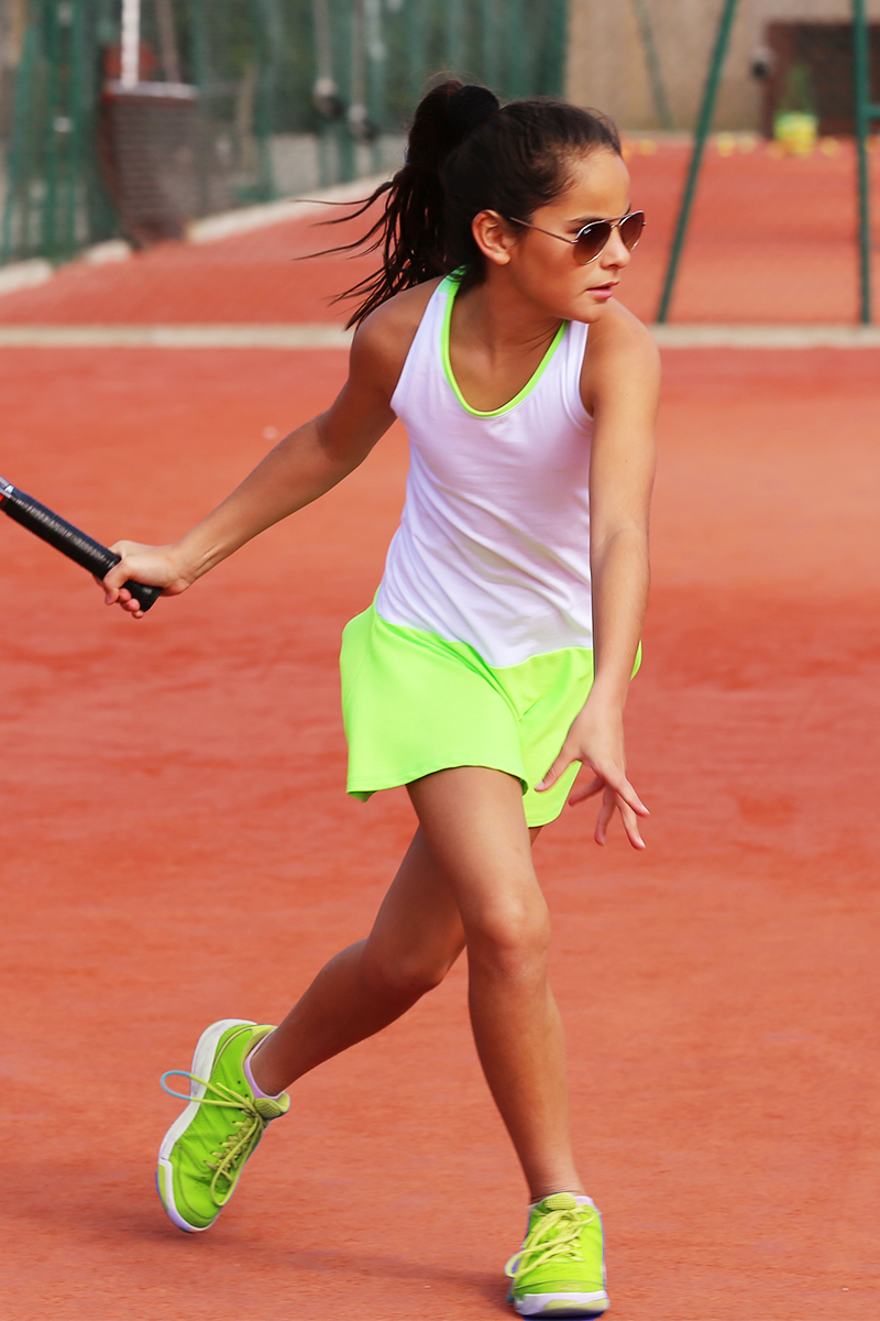 white racerback tennis dress zoe alexander