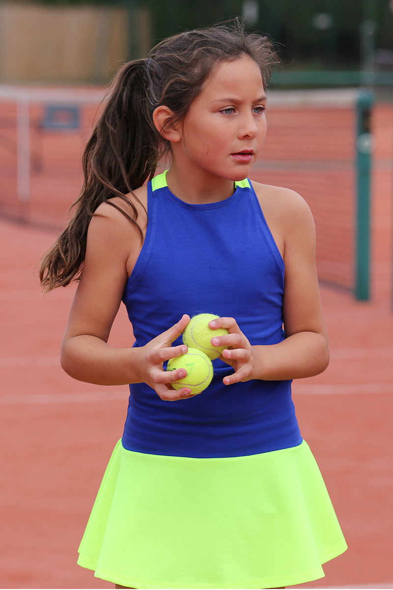 Neon Blue Tennis Dress Daria by Zoe Alexander