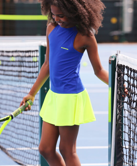TENNIS DRESS NEON for girls zoe alexander
