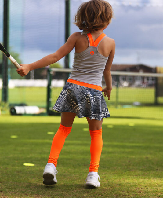 neon orange tennis dress zoe alexander