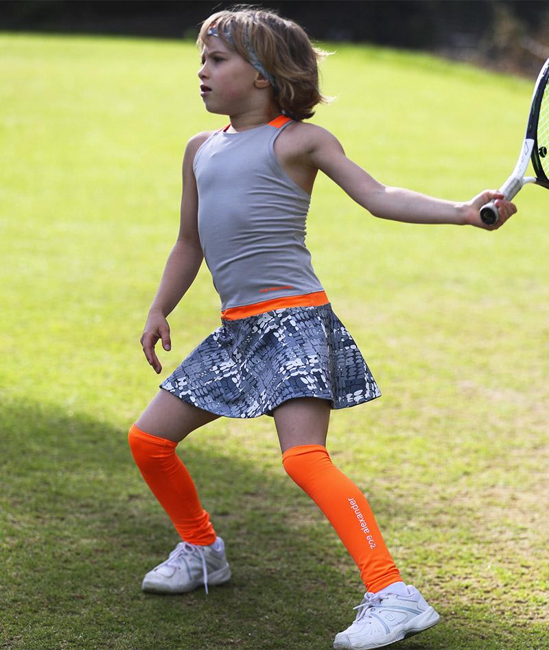 neon orange tennis dress zoe alexander