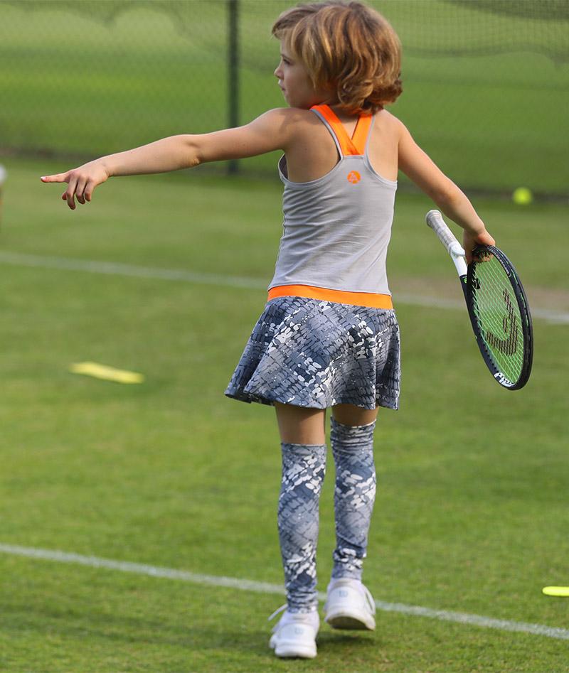 jennifer grey neon girls tennis dress racerback zoe alexander uk