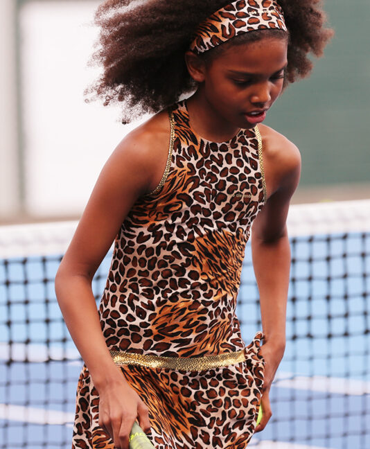 animal print jaguar tennis dress zoe alexander inspire