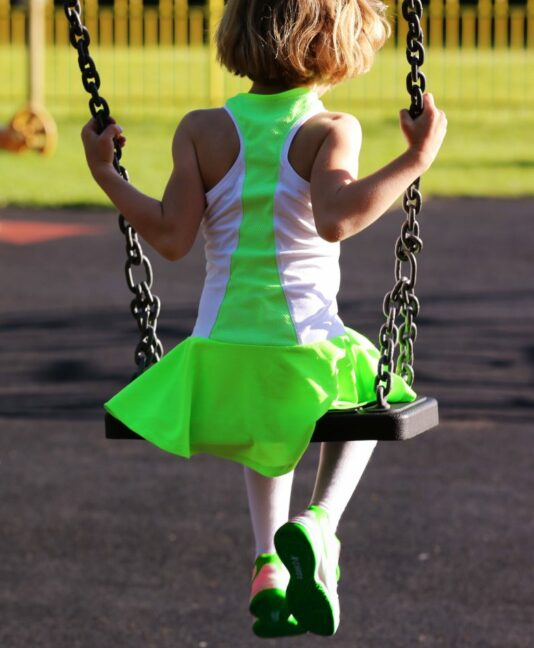 white neon tennis dresses for girls zoe alexander