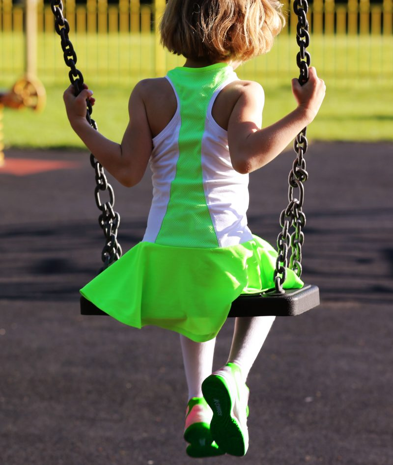 white neon tennis dresses for girls zoe alexander