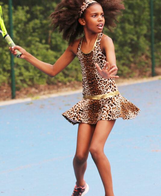 animal print tennis dress leopard zoe alexander uk