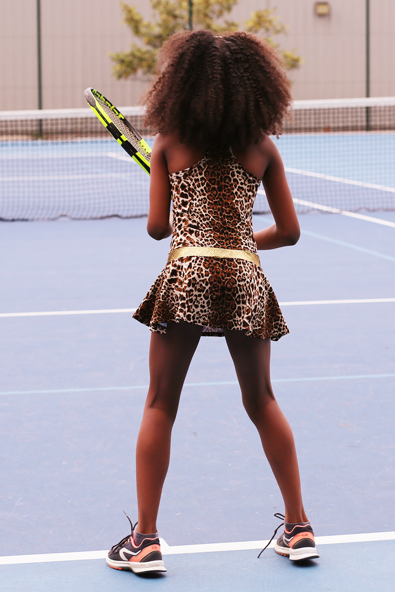 tennis dress animal print leopard zoe alexander