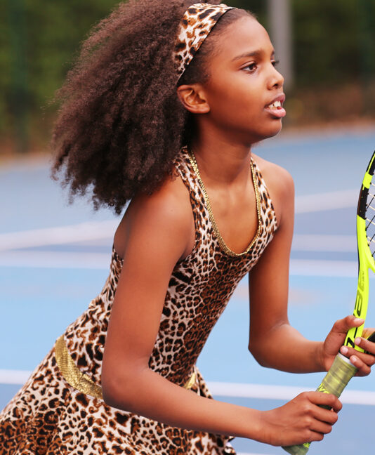 leopard animal print tennis dress zoe alexander