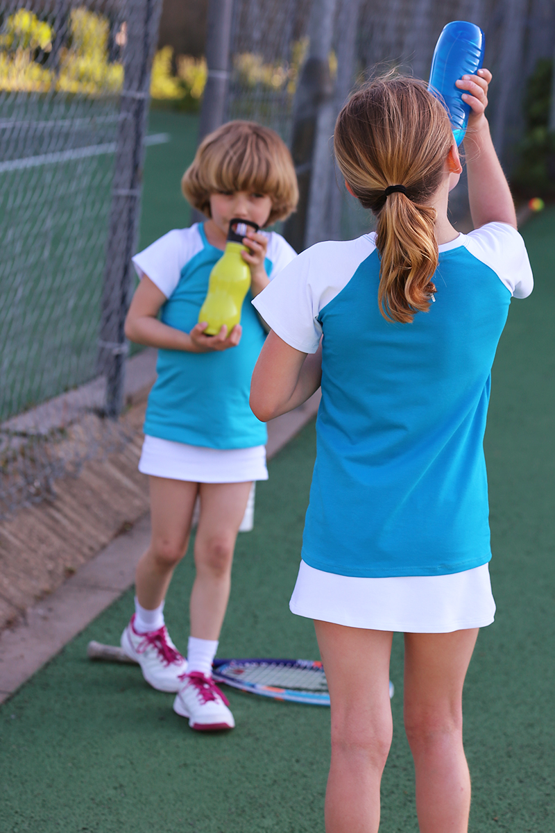 tennis top raglan sleeve
