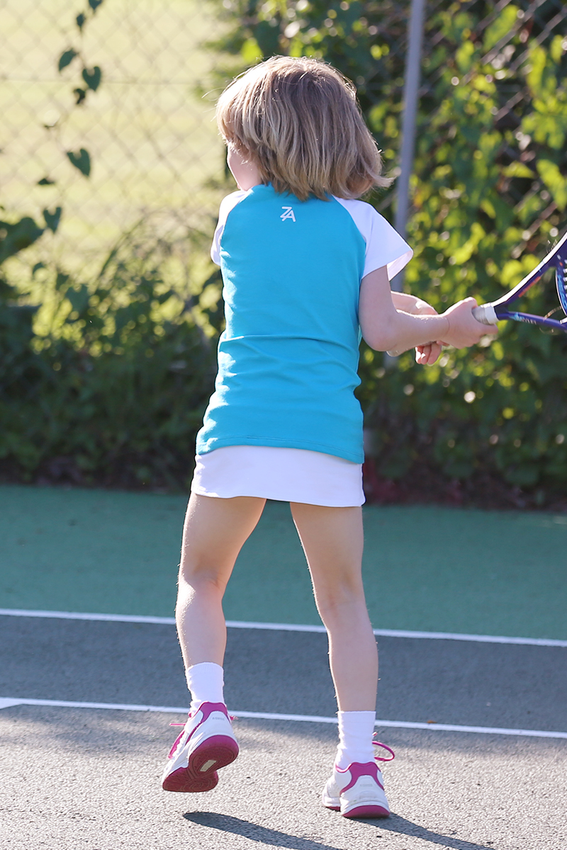 tennis top and a line skirt from zoe alexander