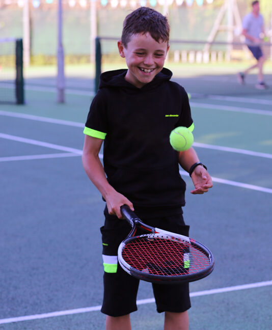 boys black hoodie tennis sleeveless zoe alexander
