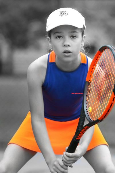 orange neon tennis dress daria zoe alexander