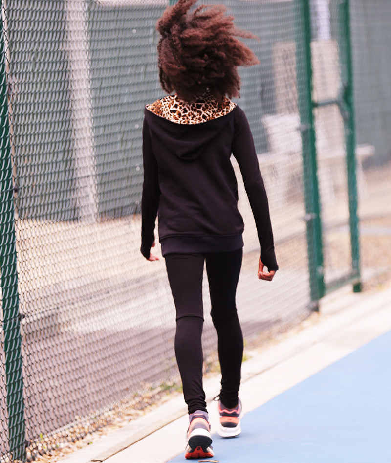 tennis hoodie black for girls zoe alexander