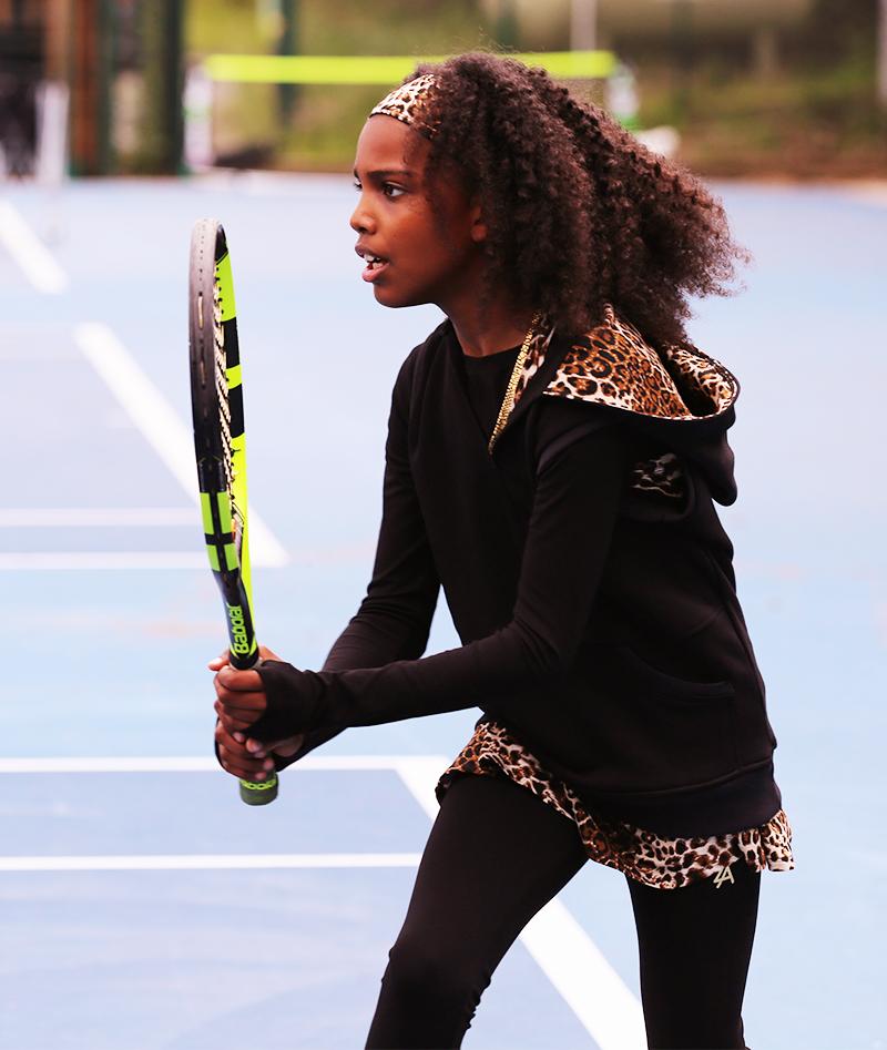 black girls hoodie tennis zoe alexander