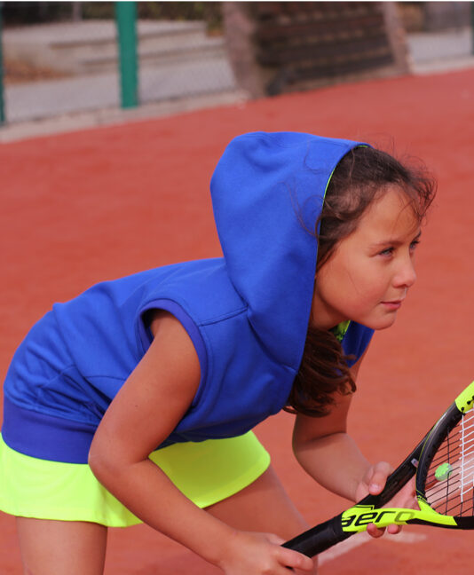 blue tennis hoodies for girls by zoe alexander