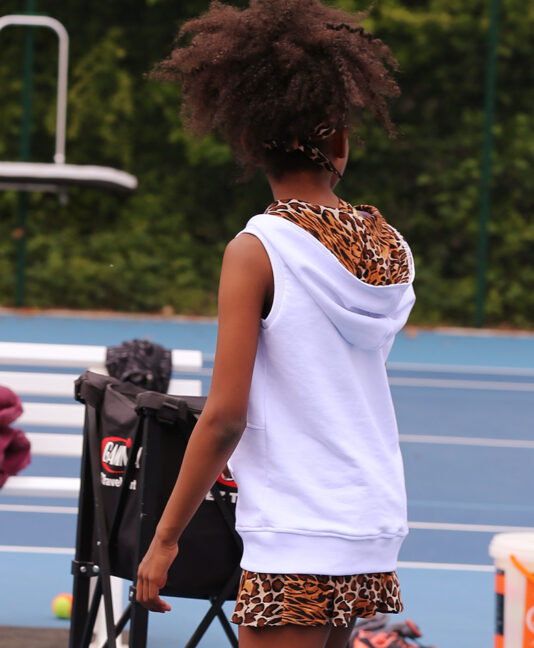 white tennis hoodies girls zoe alexander