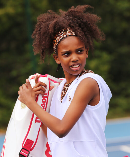 girls white sleeveless tennis hoodie zoe alexander