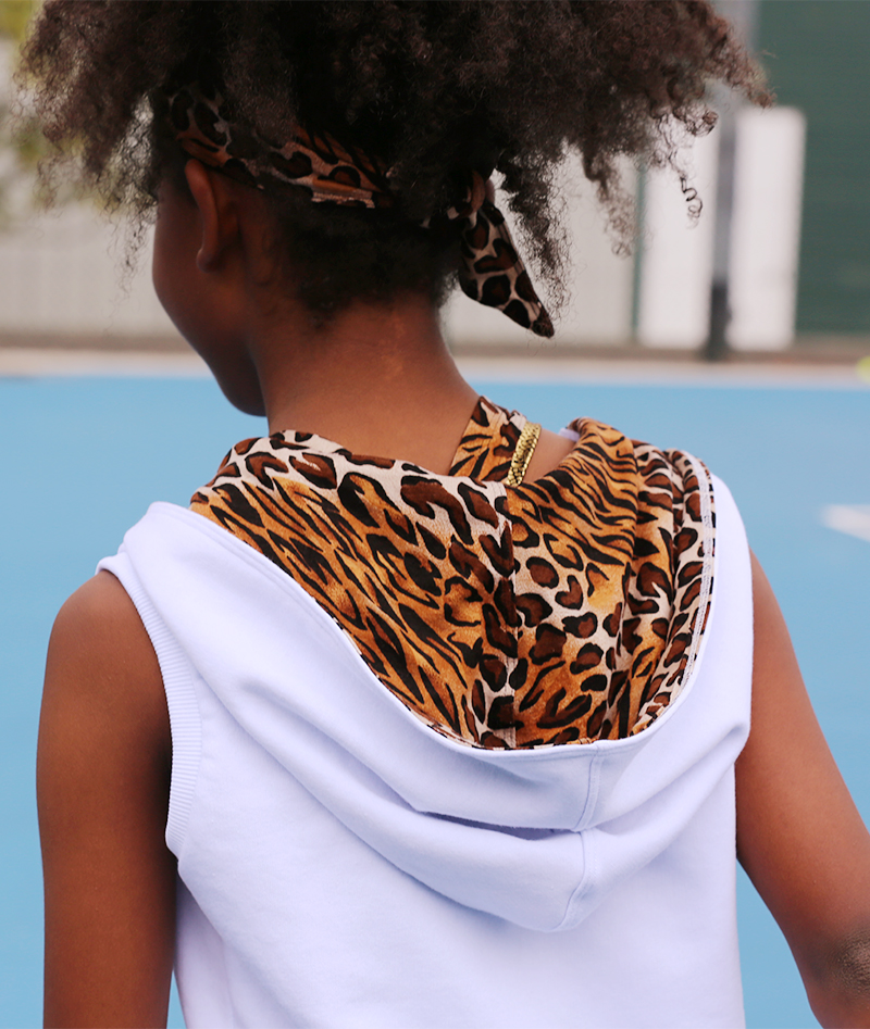 girls white tennis hoodie sleeveless zoe alexander